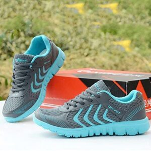 DUOYANGJIASHA Women's Athletic Mesh Breathable Casual Sneakers Lace Up Running Comfort Sports Student Fashion Tennis Shoes