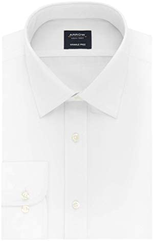 Arrow 1851 Men's Dress Shirt Poplin (Available in Regular, Slim, Fitted, and Extreme Slim Fits)