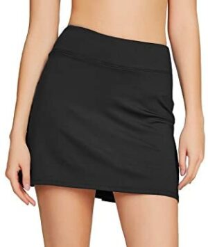Cityoung Women's Athletic Pleated Golf Skirt with Shorts Pockets Running Tennis Workout Skorts