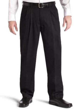 Lee Men's Big & Tall Big-Tall Stain Resistant Relaxed Fit Pleated Pant