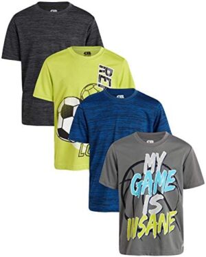 Only Boys Performance Dry-Fit T-Shirts (4 Pack)