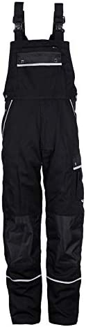 TMG Men's Work Bib and Brace Overall with Knee Pad Pockets