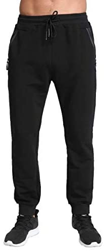 Tansozer Men's Lightweight Joggers Casual Slim Sweatpants Track Pants with Zipper Pockets