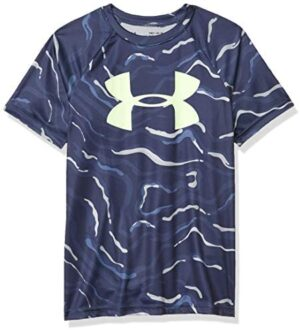 Under Armour Boys' Tech Big Logo Printed Short Sleeve Gym T-Shirt