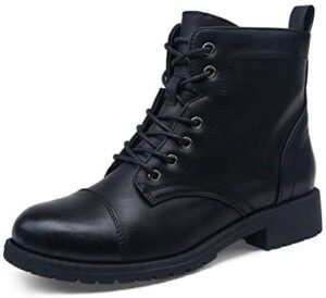 VEPOSE Women's Fashion Ankle Booties Combat Boots for Women