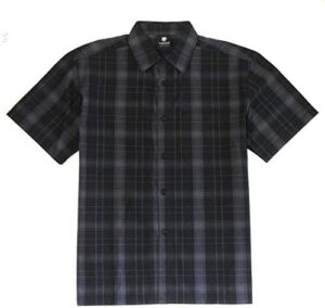 YAGO Men's Casual Checkered Relaxed Fit Button Down Short Sleeve Work Shirt