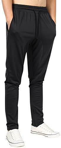 Yong Horse Men's Lightweight Joggers Pants Zipper Pockets Gym Workout Sweatpants