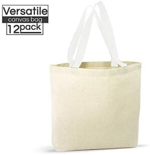 12 Pack Canvas Tote Bags – Design Your Own Party Favor Pack Tote Canvas Bags by Big Mo's Toys