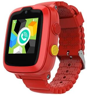 2020 Model - 4G Kids Smartwatch with GPS Tracker | Touch Screen | Remote Monitoring | SOS | Video Call | Safe Zone Gift for Boys/Girls (Red)