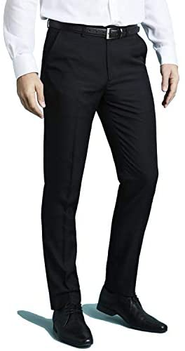 2K Store Mens Dress Pants, Stretch Slim Fit Wrinkle Free Flat Front Suit Pants Slacks