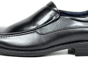 Bruno Marc Men's Goldman-02 Slip on Leather Lined Square Toe Dress Loafers Shoes for Casual Weekend Formal Work