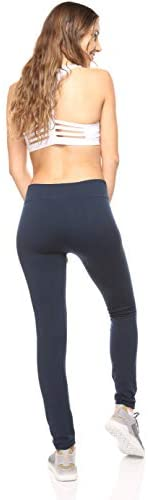 6 Pack Seamless Fleece Lined Leggings for Women - Winter, Workout & Everyday Use - One Size