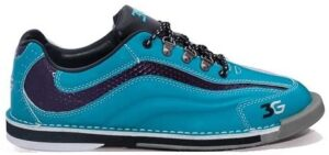 3G Sport Ultra Teal/Purple Women's Right Hand Bowling Shoes, Size 8.5