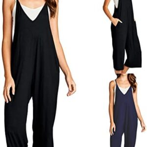Loving People Women's Loose Fit Jumpsuits Jumpers Soft Stretchy with Pockets