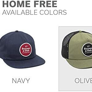 Home Free Circle Scout Patch Trucker Hat - Adjustable Baseball Cap w/Plastic Snapback Closure Olive