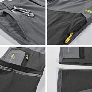 VtuAOL Men's Outdoor Hiking Convertible Pants Quick Dry Lightweight Zip Off Pants Military Trousers