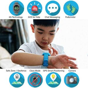 New 4G Edition - Kids Smart Watch for Boys Girls (Red) - Touch-Screen Smartwatch with SIM Card – Remote Monitoring/Video Call/GPS Tracker - Ready Out of The Box