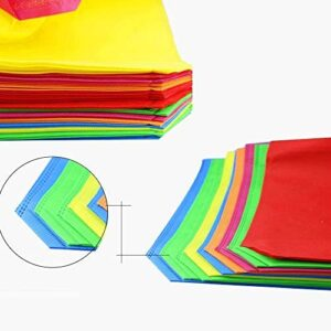 """20Pack 13"""" Party Favor Gift Tote Bags, Assorted Bright Colors, Non-Woven Rainbow Treat Bags with Handles For Birthday Favors, Snacks, Toys"""