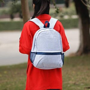 2-5 Years Kids Backpack For Boys and Girls Soft Seersucker School Bookbag Can Be Personalized