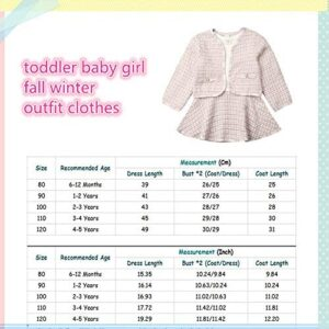 Toddler Baby Girl Plaid Skirt Set Long Sleeve Jacket Coat Tops Party Dress Tutu Skirt Fall Outfit Clothes