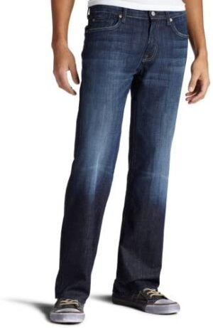 7 For All Mankind Men's Austyn Relaxed Fit Mid Rise Straight Leg Jeans