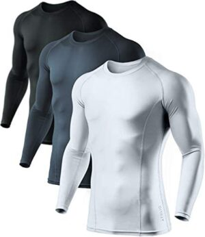 ATHLIO Men's Cool Dry Fit Long Sleeve Compression Shirts, Active Sports Base Layer T-Shirt, Athletic Workout Shirt