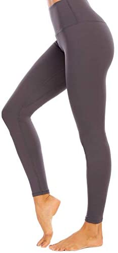 AUU Yoga Leggings with Pockets High Waisted Yoga Pants Workout Leggings for Womens Opaque Slim