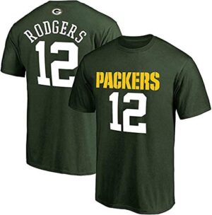 Aaron Rodgers Green Bay Packers NFL Boys Kids 4-7 Green Mainliner Name & Number T-Shirt