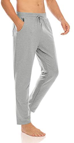 Agnes Urban Mens Joggers Sweatpants Open Bottom Casual Cotton Lounge Running Gym Track Athletic Jersey Pants with Pockets