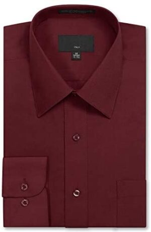 Allsense Men's Long Sleeve Regular Fit Dress Shirts