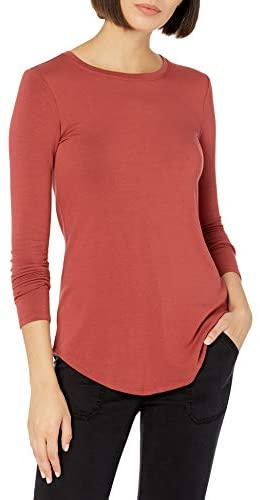Amazon Brand - Daily Ritual Women's Supersoft Terry Long-Sleeve Shirt with Shirttail Hem