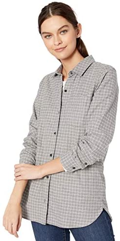 Amazon Brand - Goodthreads Women's Heavyweight Flannel Long-Sleeve Button-Front Tunic Shirt