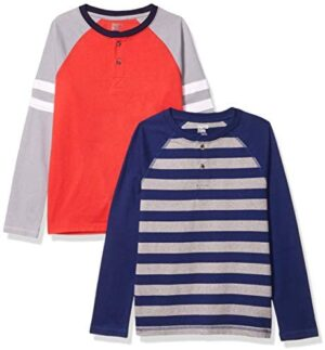 Amazon Brand - Spotted Zebra Boys Long-Sleeve Henley T-Shirts