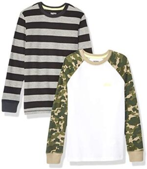 Amazon Brand - Spotted Zebra Boys Long-Sleeve Thermal T-Shirts