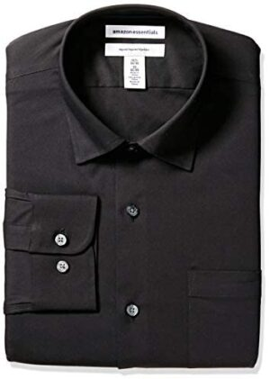 Amazon Essentials Men's Regular-fit Wrinkle-Resistant Stretch Dress Shirt