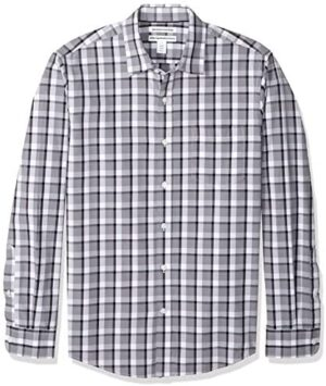 Amazon Essentials Men's Slim-Fit Long-Sleeve Casual Poplin Shirt