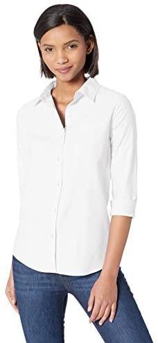 Amazon Essentials Women's Classic Fit Long Sleeve Button Down Oxford Shirt