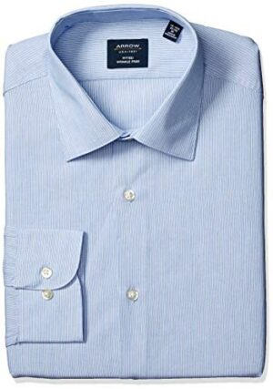 Arrow 1851 Men's Dress Shirt Fitted Stripe