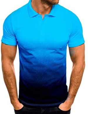 Babequeen Men's New Collar Short Sleeves Breathable Formal US Size Polo Clothing Short Sleeves Performance Polo Shirt