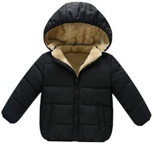 Baby Girls Boys' Winter Fleece Jackets With Hooded Toddler Cotton Dress Warm Lined Coat Outer Clothing