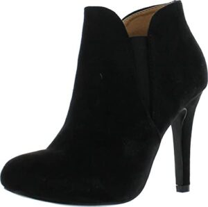 Bella Marie Women's Shoes KENDALL-10 Suede Almond Toe Ankle Fashion Boots