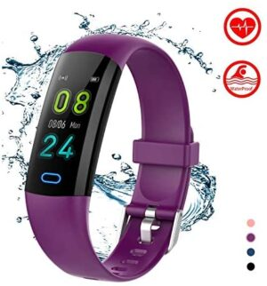 BingoFit Kids Fitness Tracker Watch with Heart Rate Monitor, Swimproof Kids Activity Tracker Pedometer Watch, Slim Sport Fitness Watch with Sleep Monitor, Calorie Counter for Kids Women Men