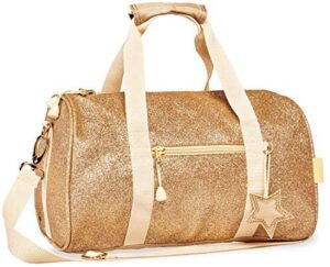 Bixbee Kids Duffle Bag for Dance, School and Sports, Small, Medium and Large, Sparkalicious Gold