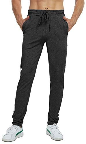 Boisouey Men's Athletic Workout Running Pants Training Joggers Sweatpants with Pockets
