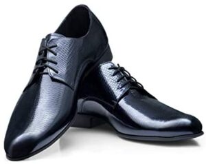 Boldini Francesco Luxury Men's Leather Dress Shoes Handmade in Europe Unique Formal Elegant Lace up Oxford Casual Business Fashion for Modern Man Fancy Shoes for Wedding Party Prom Tuxedo