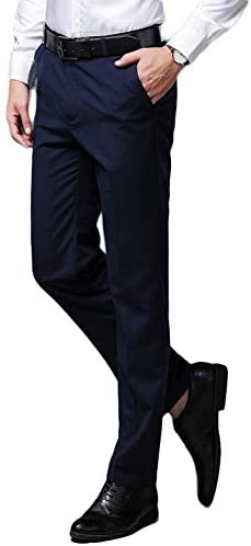 Botong Men's Wrinkle-Free Stretch Pants Comfort Suit Pant Dress Trousers