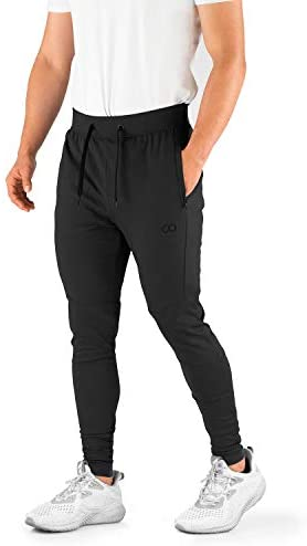 Contour Athletics Hydrafit Joggers for Men (Slim Fit Original), Sweatpants for Men with Zipper Pockets, Gym, Workout Pants