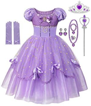 DOCHEER Girls Fancy Princess Costume Deluxe Dress Up Cosplay Party Dresses