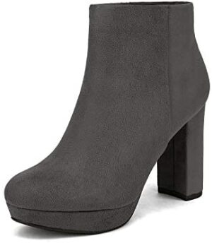 DREAM PAIRS Women's Stomp High Heel Ankle Boots