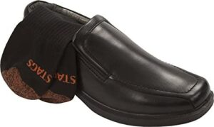 Deer Stags Men's Greenpoint Plus Dress Casual Cushioned Comfort Slip-On Loafer + Added Value Sock